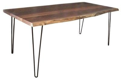 Live edge dining table with hairpin legs tn