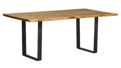 Live edge dining table with u base tn