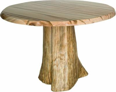 Live edge round dining stump table tn