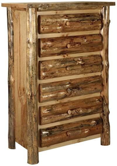 Lodge pole pine 6 drawer chest tn