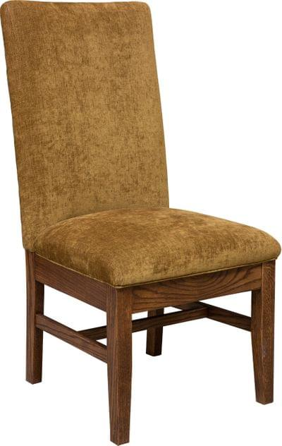 Sutter mills side chair with fabric and spring seat