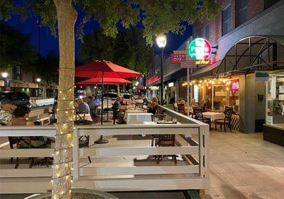 Downtown roseville outdoor dining vernon decking 2020