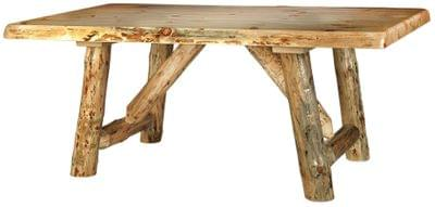 Live edge rustic dining table tn