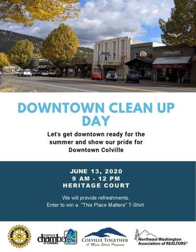 Downtown clean up day with partners