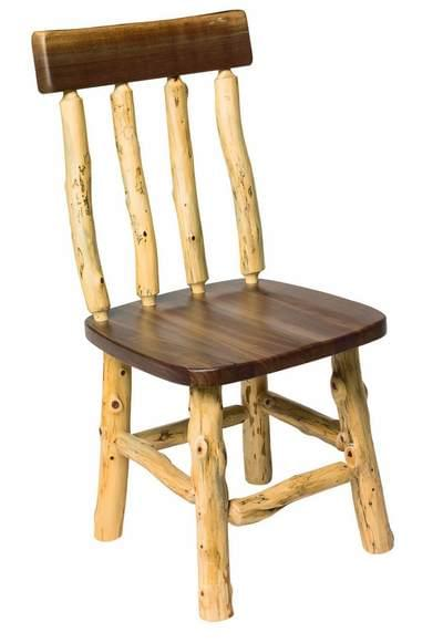 Live edge rustic side chair tn