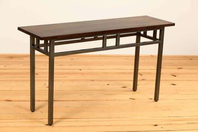 Mixed mission sofa table