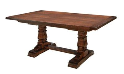 Provincial cottage dining table with breadboard ends tn