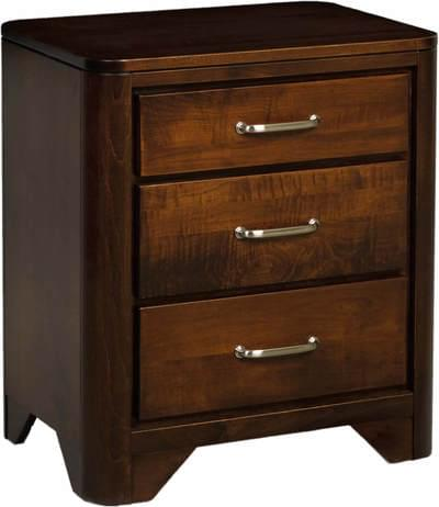 London night stand brown maple london collection