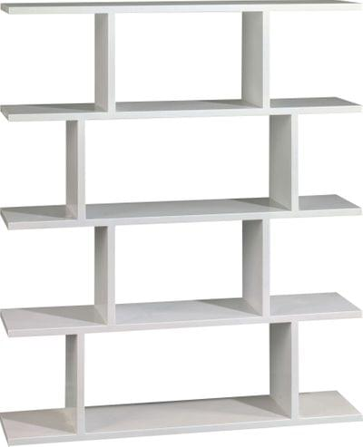 Modern bookcase maple metallic