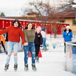 Friends skating